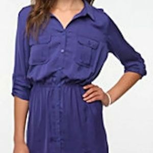 NWT Urban Outfitters BDG purple Shirt dress size L